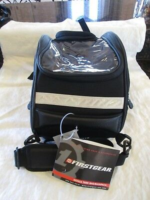 Firstgear Monza Motorcycle Tank Bag & Backpack Combo Black New With Tags