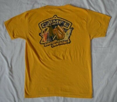 Vintage Joe Camel Shirt Size L Yellow Smooth Character Cigarette