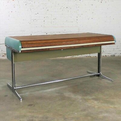 MCM Herman Miller Action Office I Roll Top Desk by George Nelson & Robert Propst