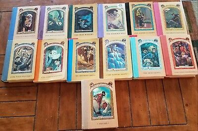 A Series of Unfortunate Events by Lemony Snicket Complete  Set 1-13 PB/HC