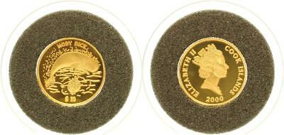 Cook Islands 10 Dollars 2000 - Moby Dick - PP in Kapsel - GOLD