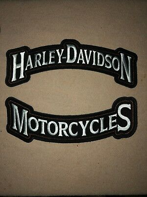 Harley Davidson Motorcycles Large Rocker Patch 12""
