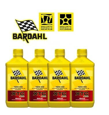 4 LT. motorcycle engine oil BARDAHL BARDAHL XTC C60 10W50 Synthetic 4 STROKE 4 L