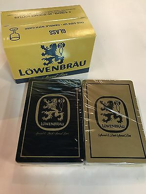Lowenbrau Beer Playing Cards in Original Box That Resembles a Case of Beer