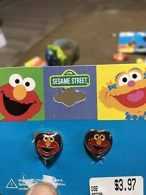 Sesame Street Childs Clip On Earrings And Breakaway Cord