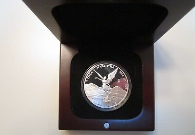 2014 Mexico 1 Oz LIBERTAD Silver Proof - in Mint Capsule w/ wood box