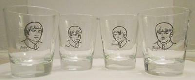 Up4Bid Charming Set of 4 The Beatles Early Years1 1/2 oz. Shot Glasses