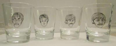 Up4Bid Charming Set of 4 The Beatles Later Years 1 1/2 oz. Shot Glasses