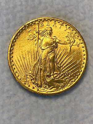 1910 $20 St. Saint Gaudens Double Eagle US Gold Coin Very nice coin No Reserve