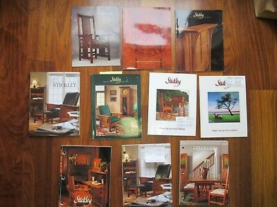 10 different Stickley Mission Oak and Cherry Collection catalogs