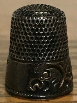 Vintage Ketcham McDougall KMD Thimble Sterling Silver Size 8