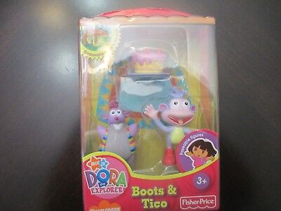 NICKELODEON Boots and Tico Toy Dora The Explorer for Magical House RARE NIB