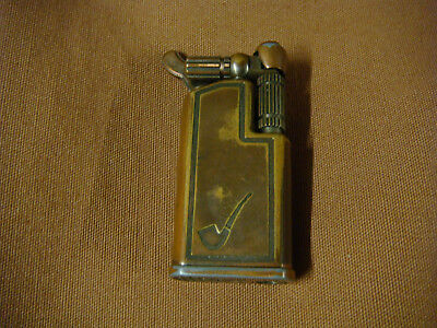 Ancien briquet Maruman GL-67 décor pipe - Vintage gas lighter