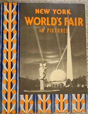 """NEW YORK WORLDS FAIR 1939 Book of Views 10"""" x12"""" good condition"""