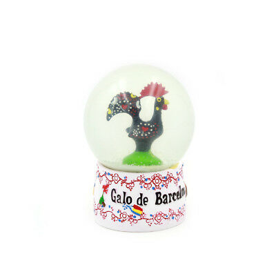 Traditional Portuguese Good Luck Barcelos Rooster Snow Globe Souvenir