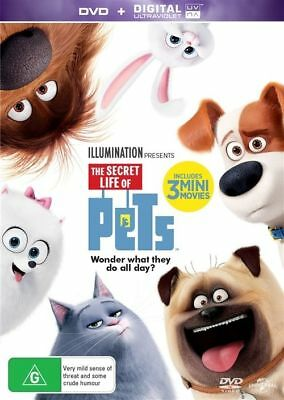 The Secret Life Of Pets (DVD, 2016), NEW SEALED AUSTRALIAN
