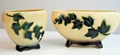Pair of  Vintage Royal Copley Ivy Vases and/or Succulent Planters
