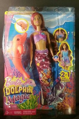 Barbie Dolphin Magic Transforming Mermaid Doll MYTODDLER Factory sealed 3-100