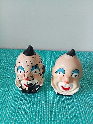 Clowns Salt And Pepper Shakers.