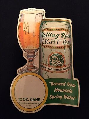 Vintage Rolling Rock Light Beer Starliner Mactac Removable Sticker