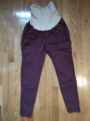 A Pea In The Pod Burgundy Maternity Pants Size Small