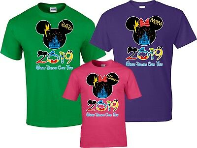 Our Disney Family Vacation 2019 Mickey & Minnie funny cute Custom Name T-Shirts