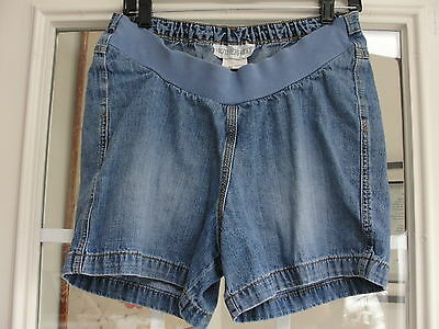 Motherhood Maternity Blue Jean Shorts Sz M 100% Cotton