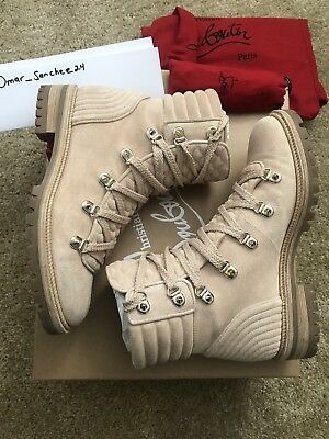 low priced b6c0c 6fc5c CHRISTIAN LOUBOUTIN MAD boot flat crosta Nude beige Size 37.5