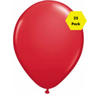 "NEW Stunning 12"" Plain Balloons - Red 25 Pk"