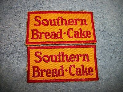 "PAIR OF VINTAGE SOUTHERN BREAD-CAKE  Uniform Patches 1960s 2"" x 4"" Embroirded"