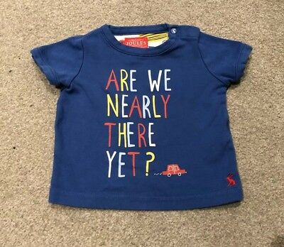 Joules Baby Boys Blue Graphic T-shirt 6-9 Months
