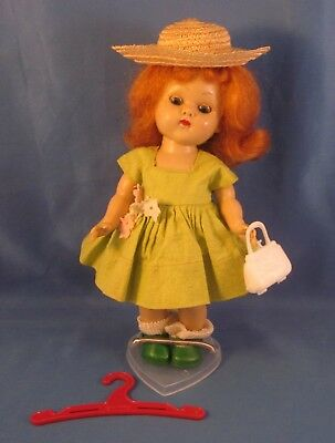 "Vintage 1950s Vogue Ginny 8"" Straight Leg Walker Doll in TAGGED Outfit"