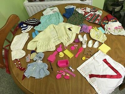 Vintage Dolls Accessories And Clothing Bundle Includes Barbie Items
