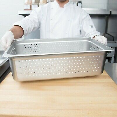 """Full Size 6"""" Deep Stainless Steel Perforated Steam Table Hotel Pan"""