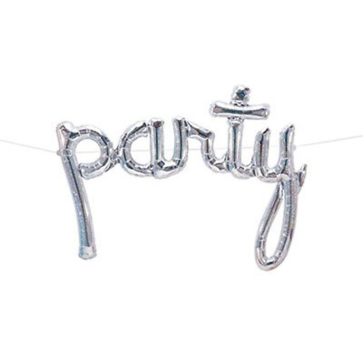 """NEW Stunning """"Party"""" Script Holographic - Air Fill Only"""