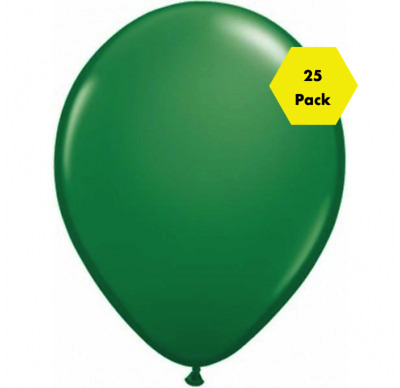 "NEW Stunning 12"" Plain Balloons - Green 25 Pk"