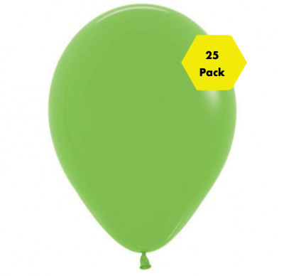 "NEW Stunning 12"" Plain Balloons - Lime Green 25 Pk"
