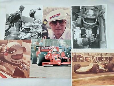 Lot of 6 Unsigned Vintage Indy Car Racing Photographs Newman, Leonard  & More