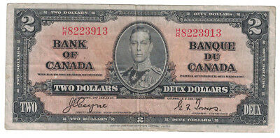 Bank of Canada - 1937 Two Dollars Banknote