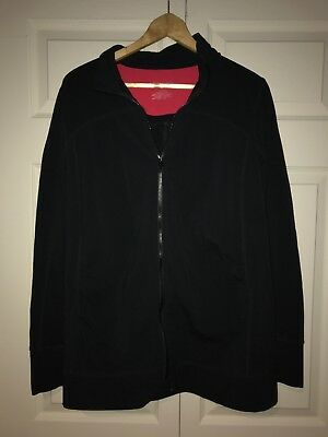 Liz Lange Maternity Full Zip Athletic Jacket, XL, Black
