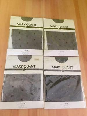 Vintage Mary Quant Fancy Tights Black  With Starburst, Never Opened