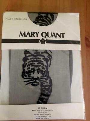 Vintage Mary Quant Fancy Stockings Black With Tiger, Made In Italy