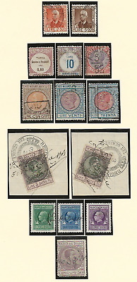 Italy revenue stamps on pages