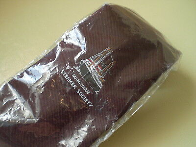 Manxman Steamer Society Official Tie  Maroon Colour  With Logo