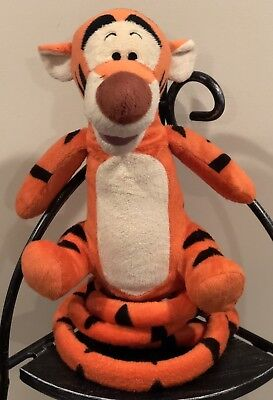 Disney~Winnie The Pooh~Turbo Tail~Bouncing Tigger Talking Plush~Excellent Cond!!