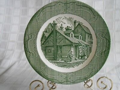 Royal China Green Dickens Old Curiosity Shop Dinner Plate