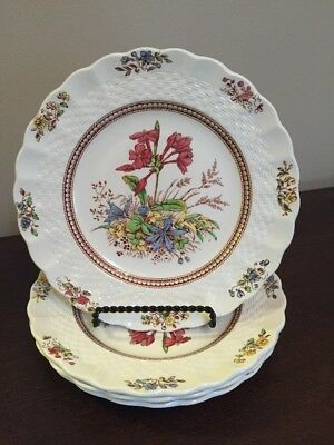 Set of 4 Copeland Spode Rosalie Bread and Butter Plates