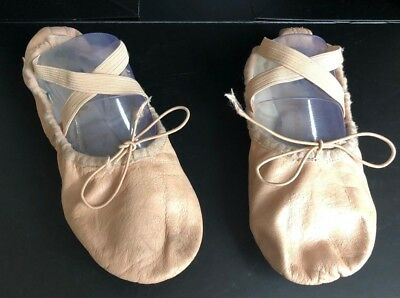 Pirouette Pink Leather Ballet Shoes - Size 4 - Split Sole