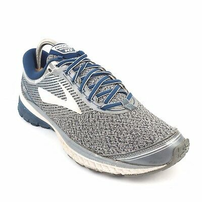 online store 283c6 19008 Men s Brooks Ghost 10 Silver Trail Running Shoes Size 9 Blue Athletic  Sneakers