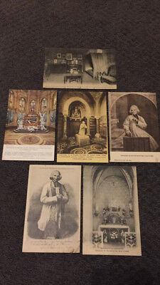 Antique Vintage Catholic Set of Post Cards St. John Vianney St. Therese Lisieux
